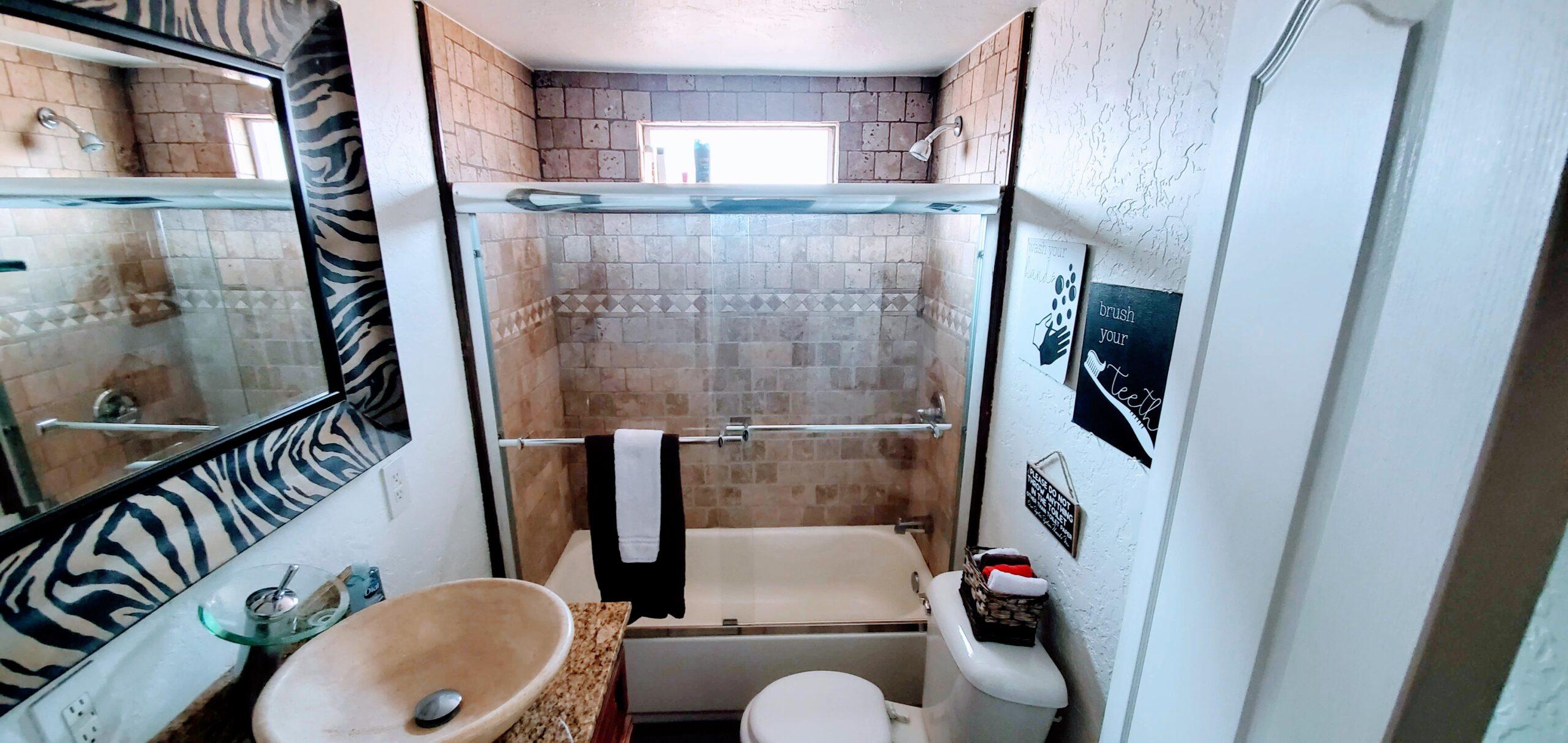 Red Cabin Bathroom